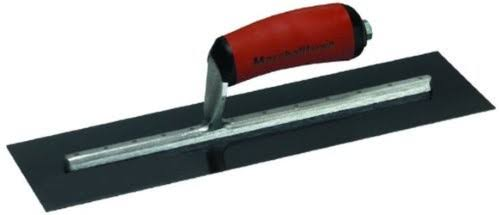"Marshalltown Curved Durasoft Handle Trowel - 16""x4"", Blue Steel Finishing"