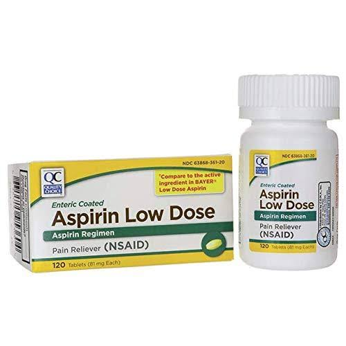Quality Choice Lo-Dose Aspirin - 120 Tablets, 81mg