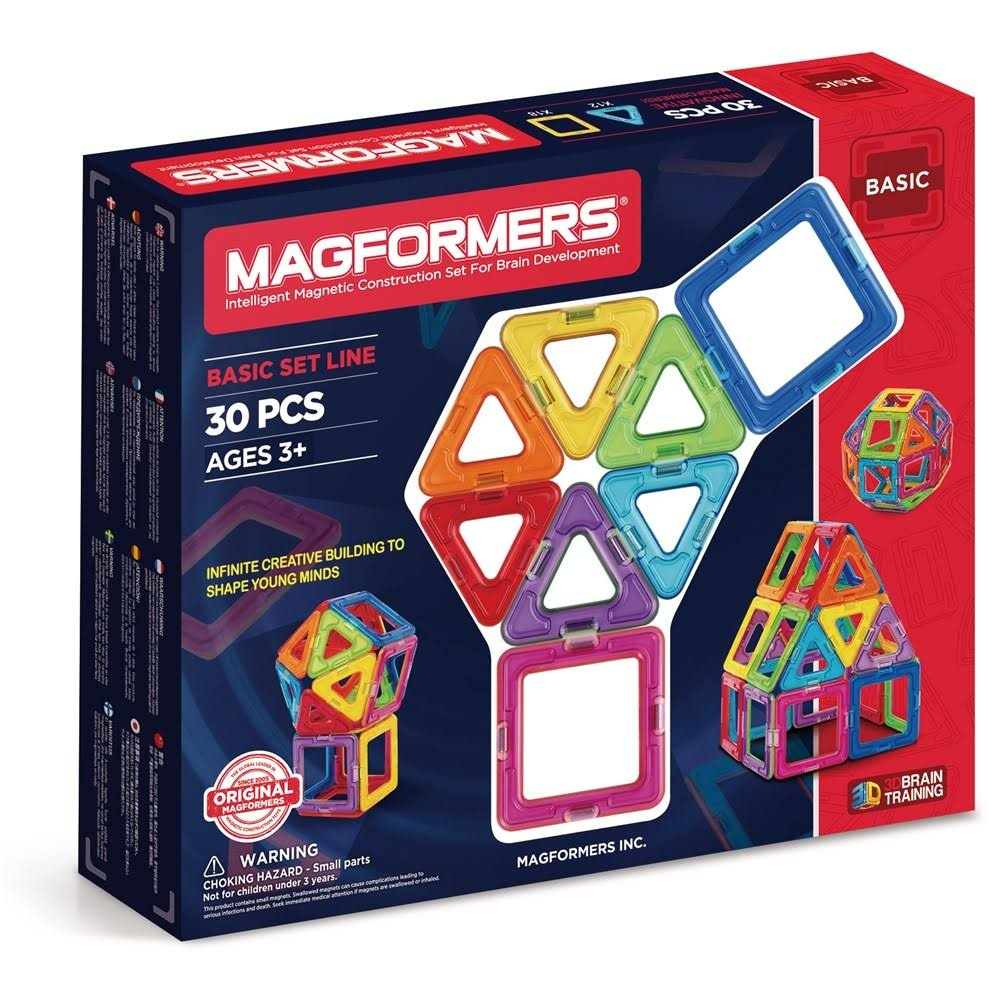 Magformers 30 Piece Building Set - 12 Triangle, 18 Square