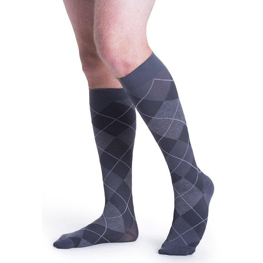 Sigvaris Microfiber Shades Men's 15-20 mmHg Knee High