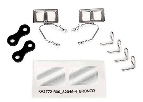Traxxas 8073X - Mirrors, Side, Chrome (Left & right)/ Retainers (2)/ Body Clips (4)
