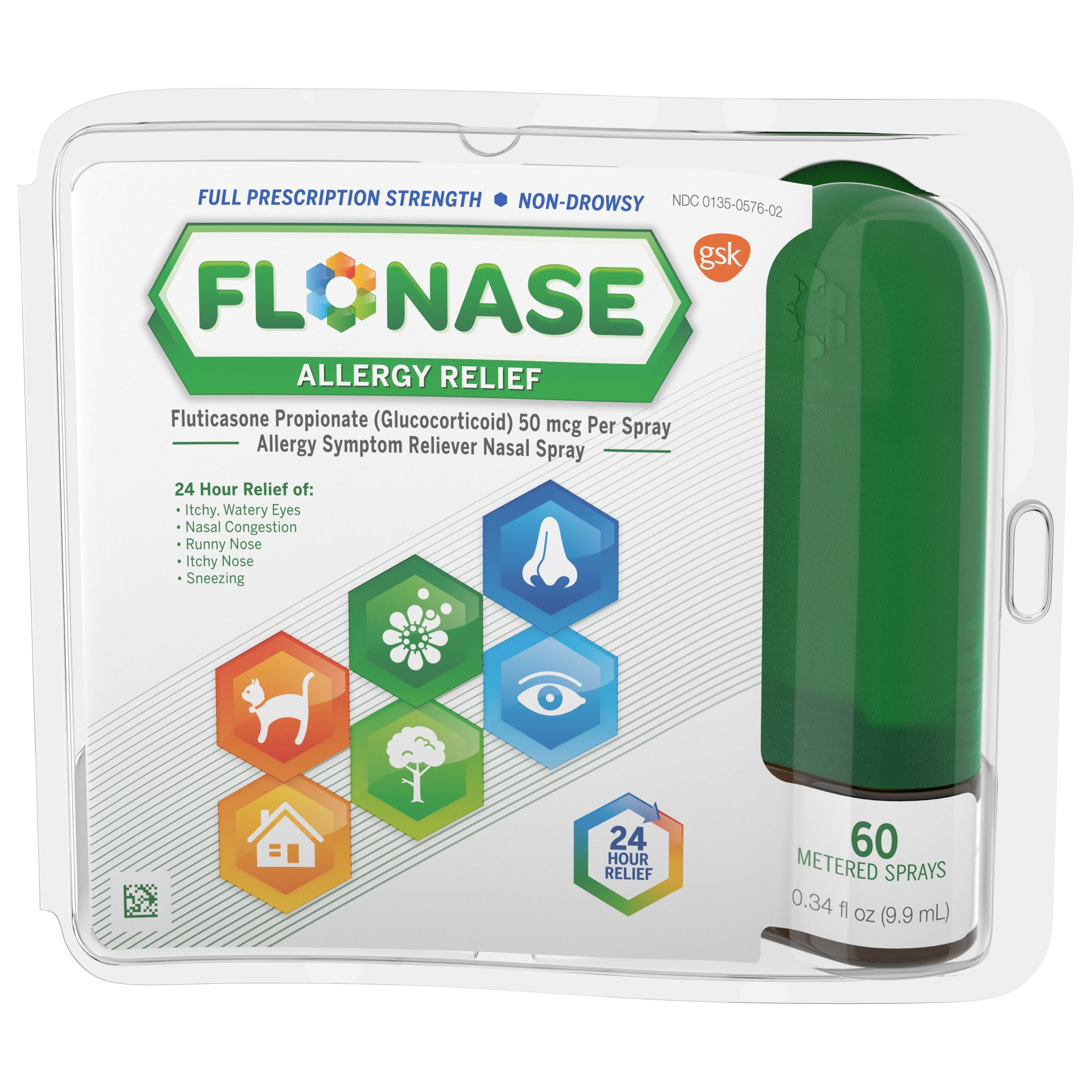 Flonase Allergy Relief Nasal Spray - 0.34oz