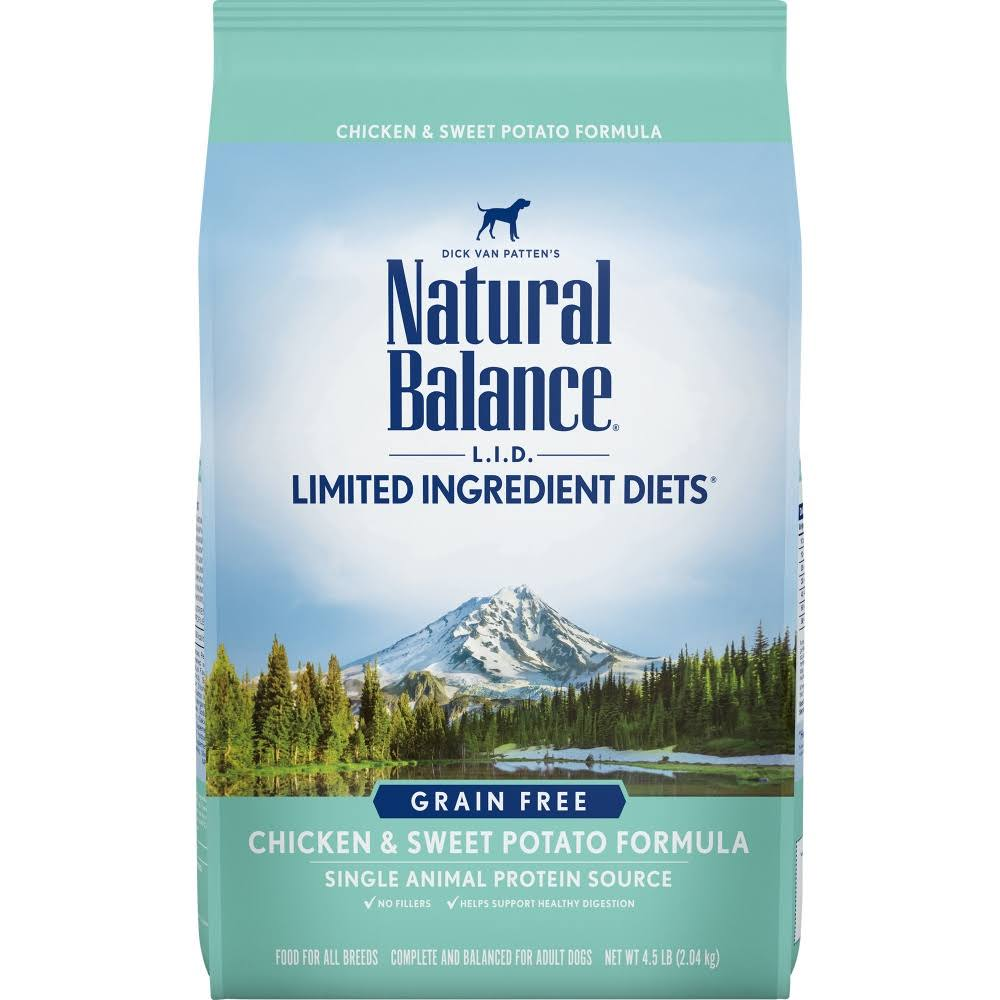Natural Balance LID All Dog Dry Food - Chicken & Sweet Potato, 2.04kg
