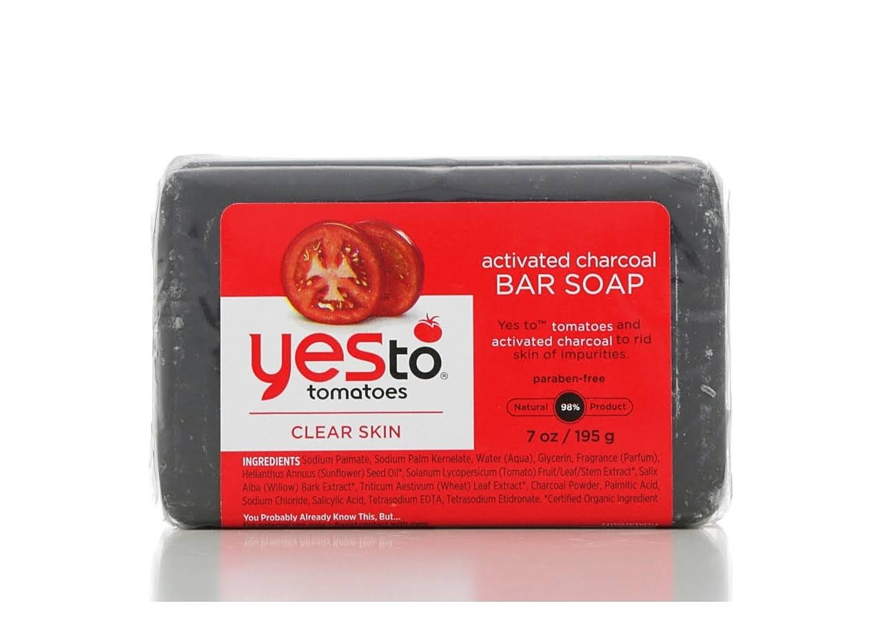 Yes To Tomatoes Activated Charcoal Bar Soap - 195g