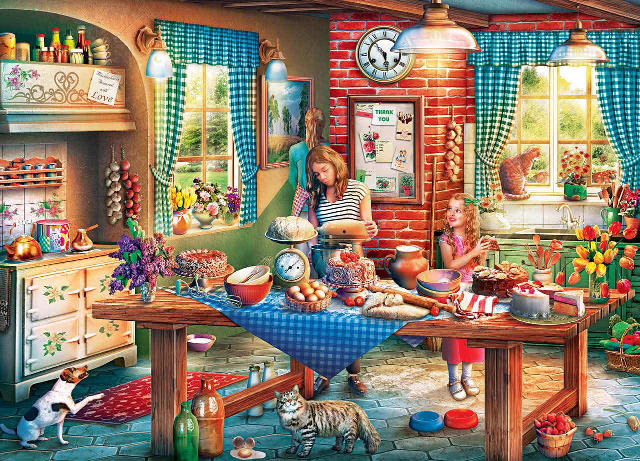 Masterpieces Childhood Dreams Baking Bread Jigsaw Puzzle - 1000pcs