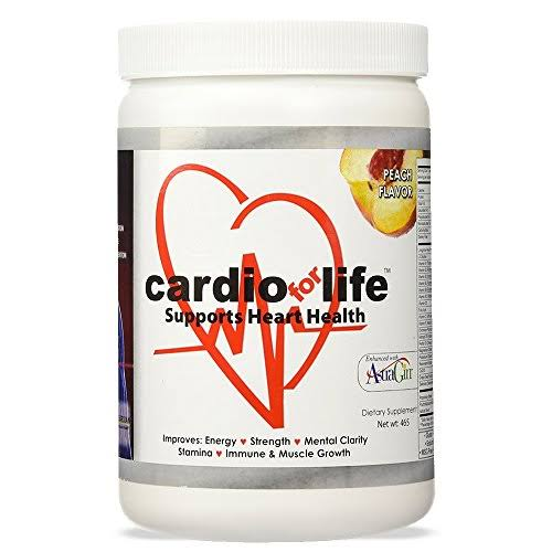Cardio for Life Powder Supplement - with Astra Gin, Peach Flavor, 16oz