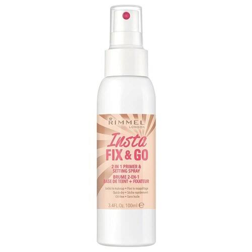 Rimmel London Insta Fix and Go 2 in 1 Primer and Setting Spray - 100ml