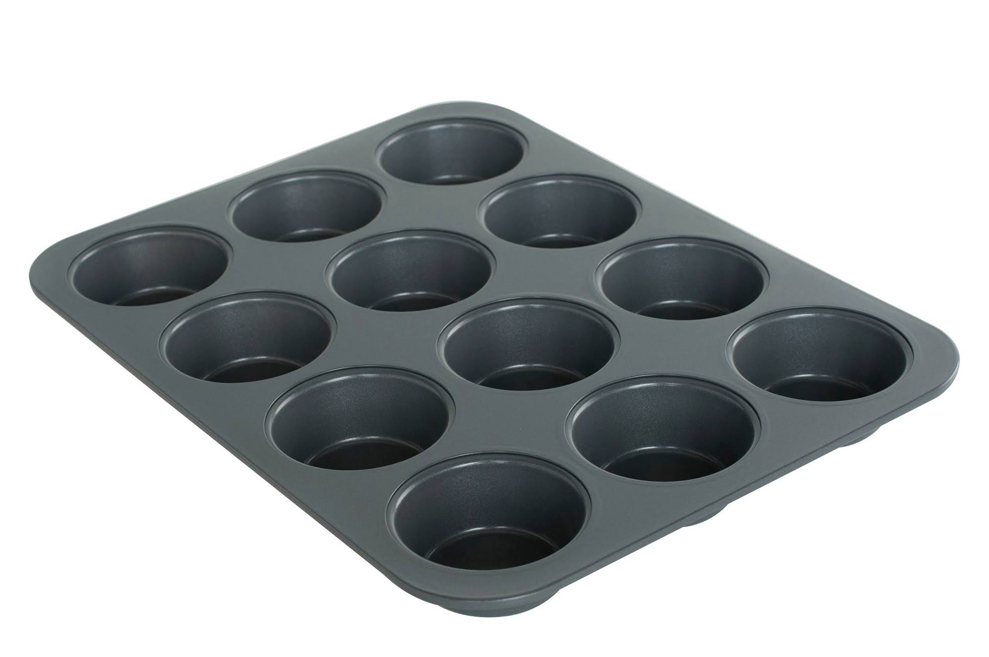 F.N.T. Inc. 12-Cup Nonstick Muffin Pan - Gray-30025