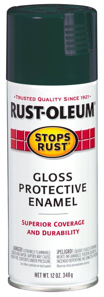 Rust-Oleum 7733830 Stops Rust Spray Paint - Gloss Dark Hunter