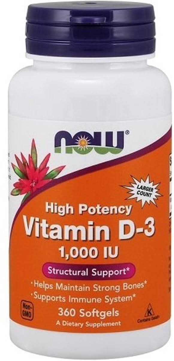 Now Foods Vitamin D-3 1000 - 360 Softgels
