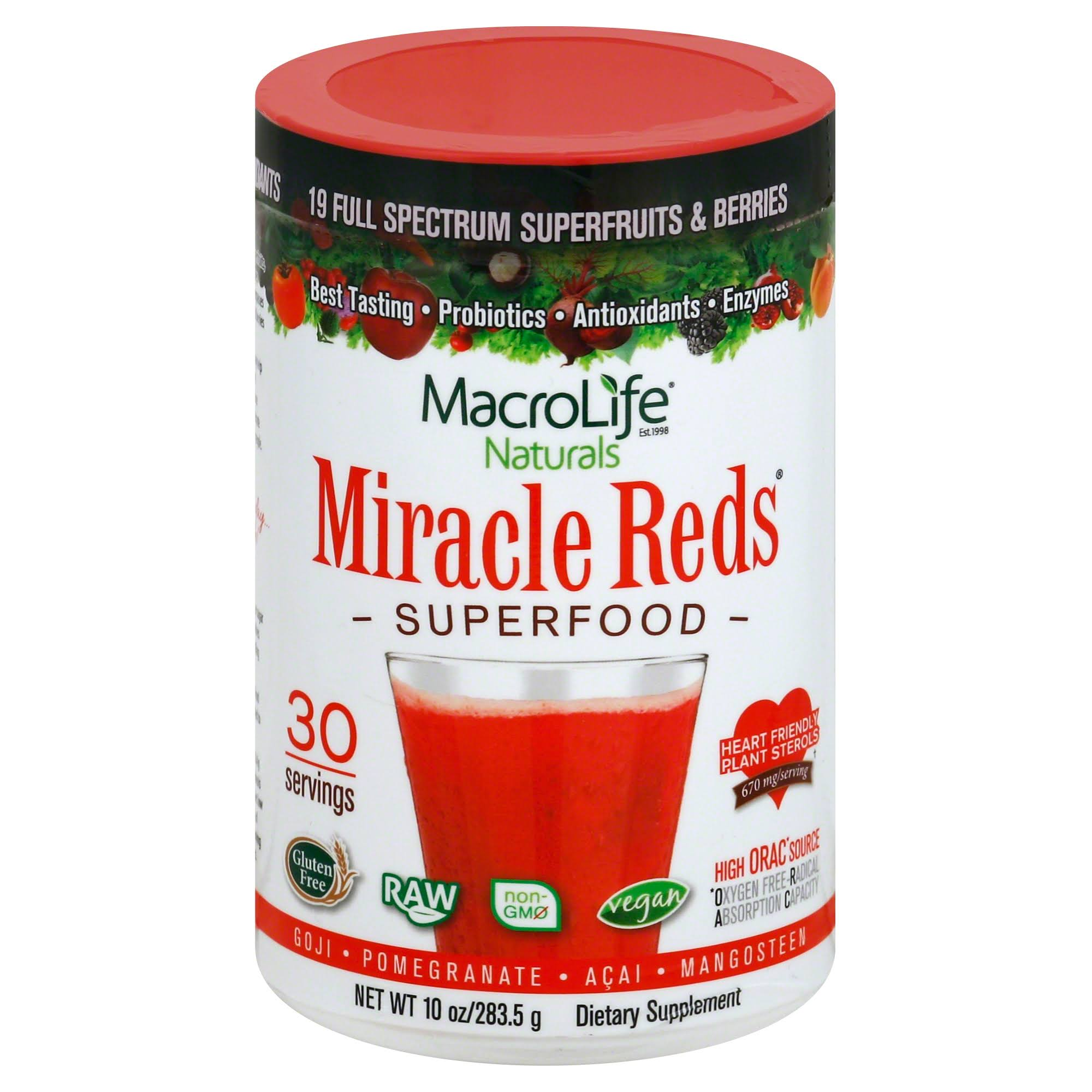 MacroLife Naturals Miracle Reds Superfood Dietary Supplement - 10oz