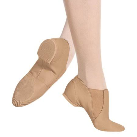 Blooch Adult Elasta Bootie Slip On Jazz Shoes - Tan, 7.5 M US