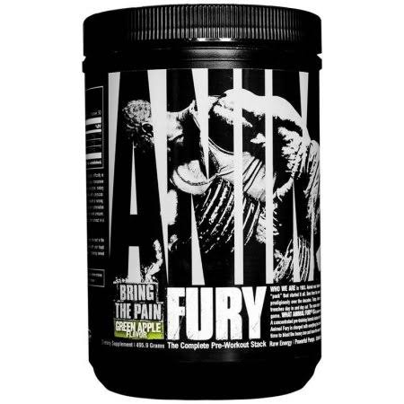 Universal Nutrition Animal Fury Dietary Supplement - Green Apple, 480g