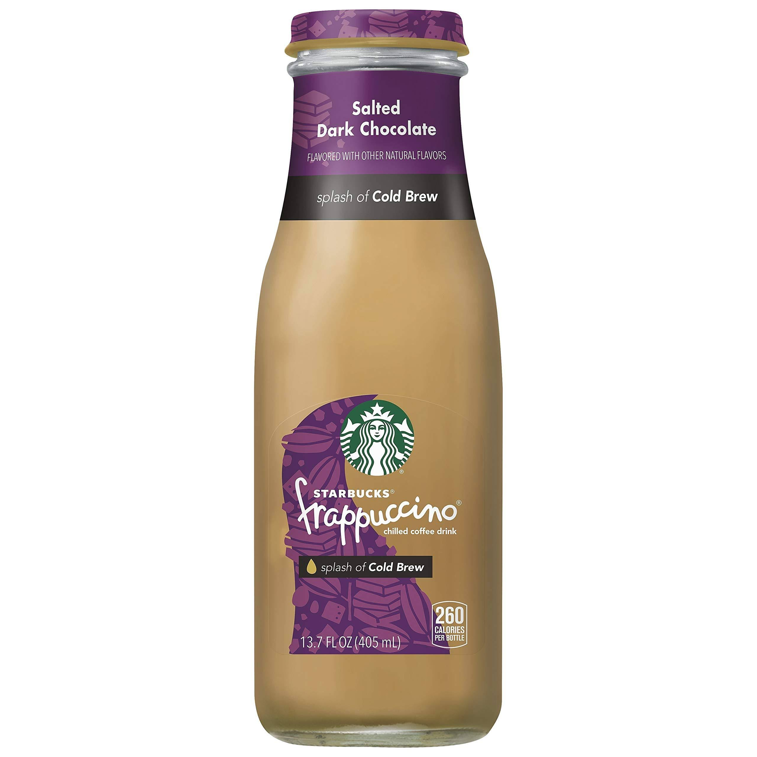Starbucks Frappuccino Chilled Coffee Drink - Salted Dark Chocolate, 13.7oz
