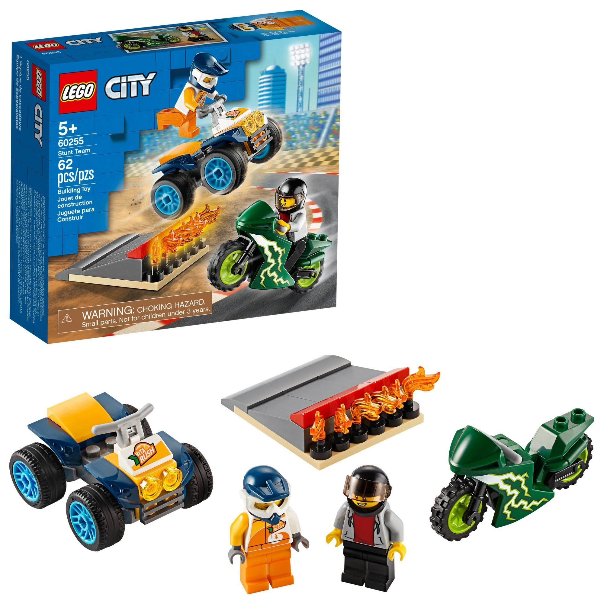 Lego City Turbo Wheels Stunt Team Building Toy
