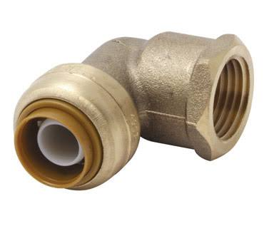 "SharkBite Push Elbow - 1/2"" Brass, 90-Degree"