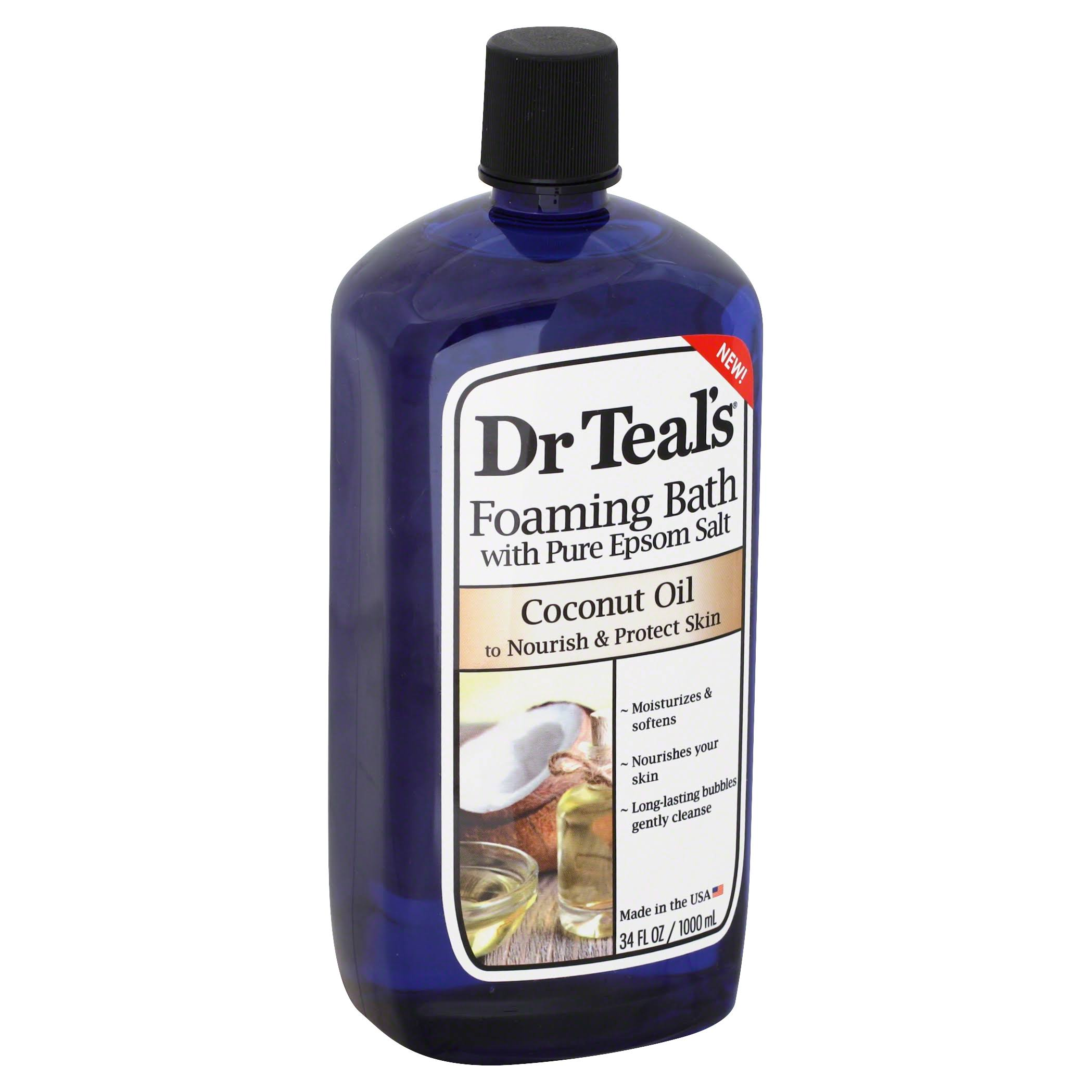 Dr Teal's Foaming Bubble Bath - With Pure Epsom Salt and Coconut Oil, 34oz