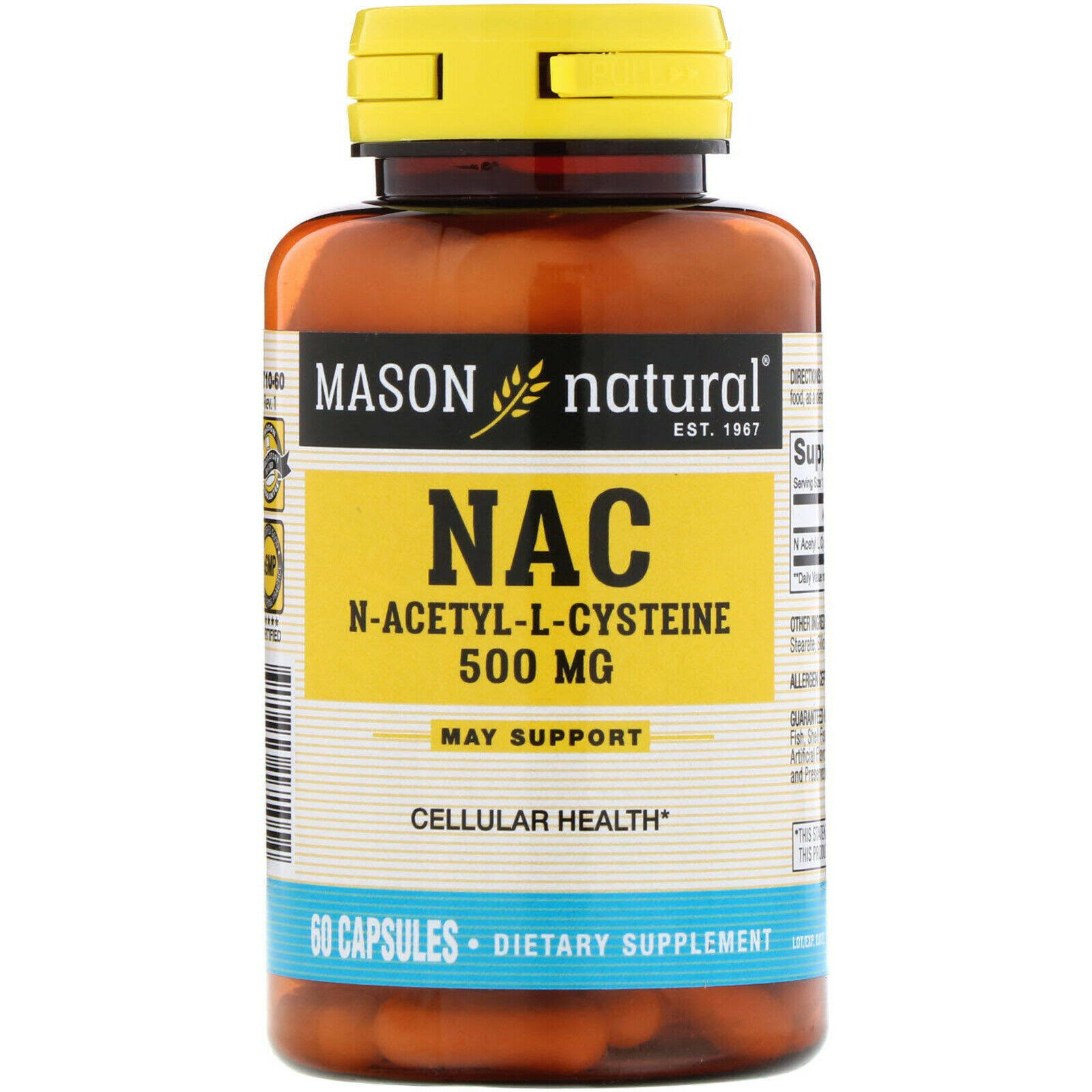 Mason Natural NAC Amino Acid Supplement - 60ct