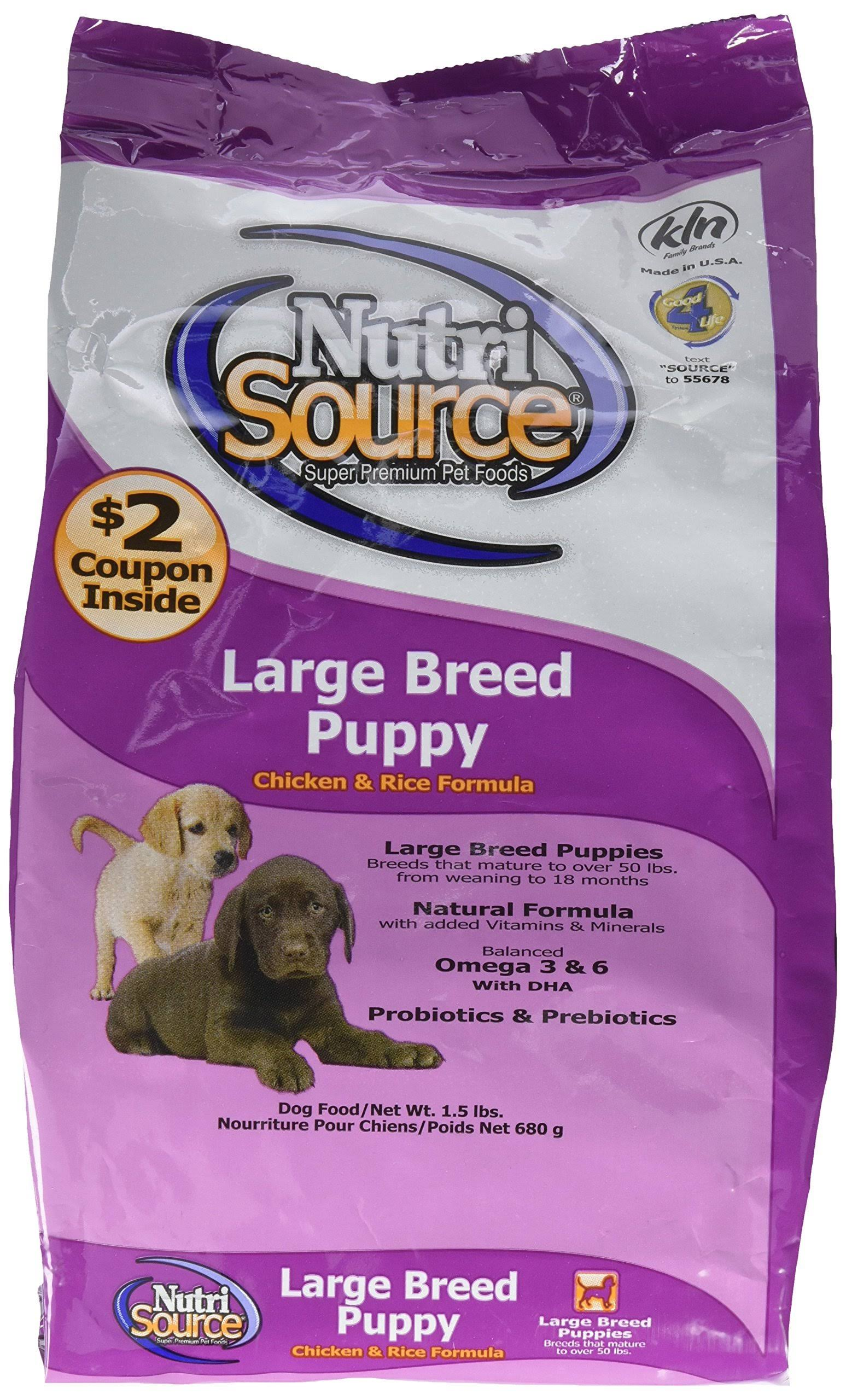Nutrisource Large Breed Puppy Dry Dog Food - 1.5lbs