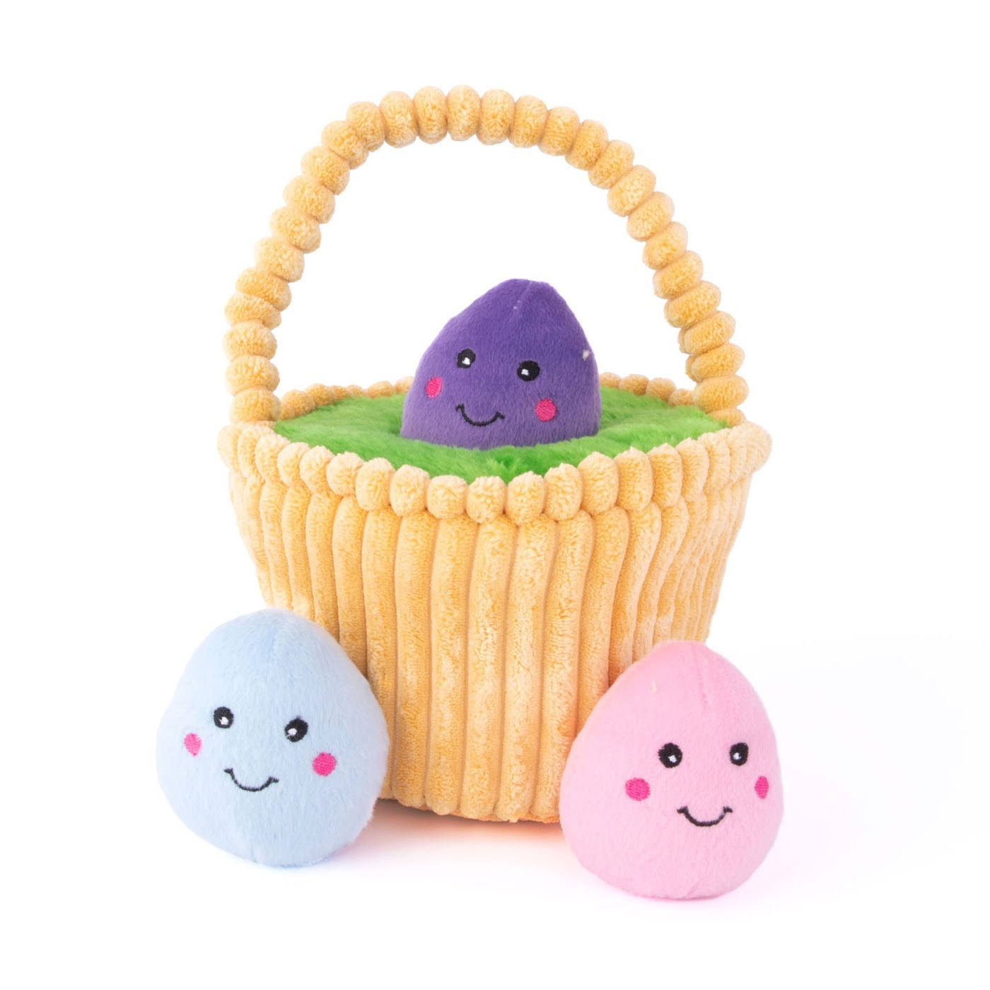 ZippyPaws Zippy Burrow Hide & Seek Easter Egg Basket Dog Toy