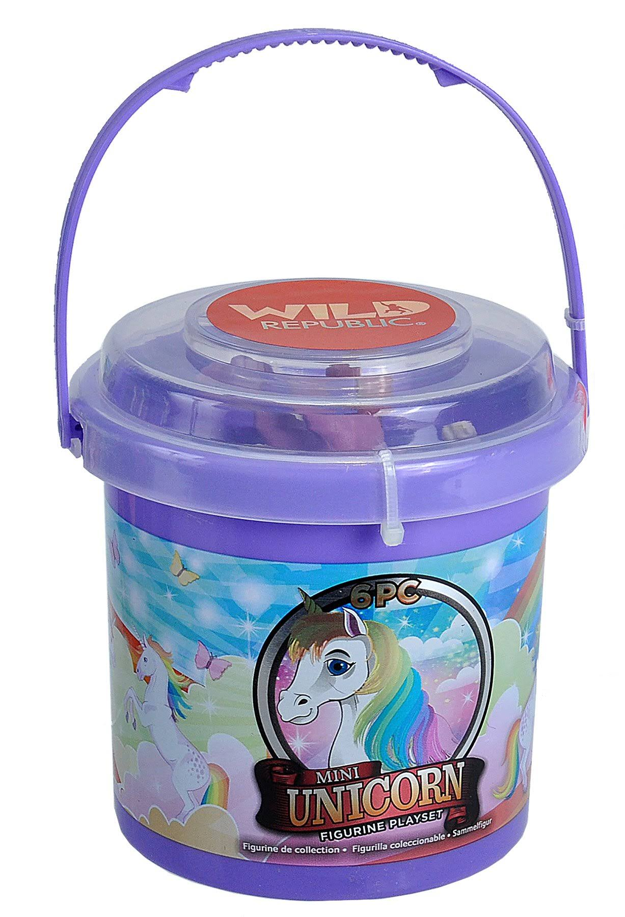 Wild Republic Playset, Figurine, Mini-Bucket Unicorn