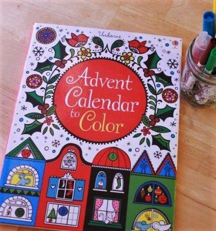 Usborne Books Advent Calendar to Color #EDC538606