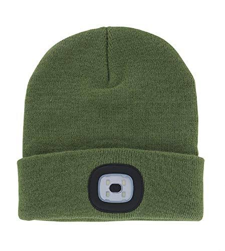 Night Scout Rechargeable LED Beanie - Green