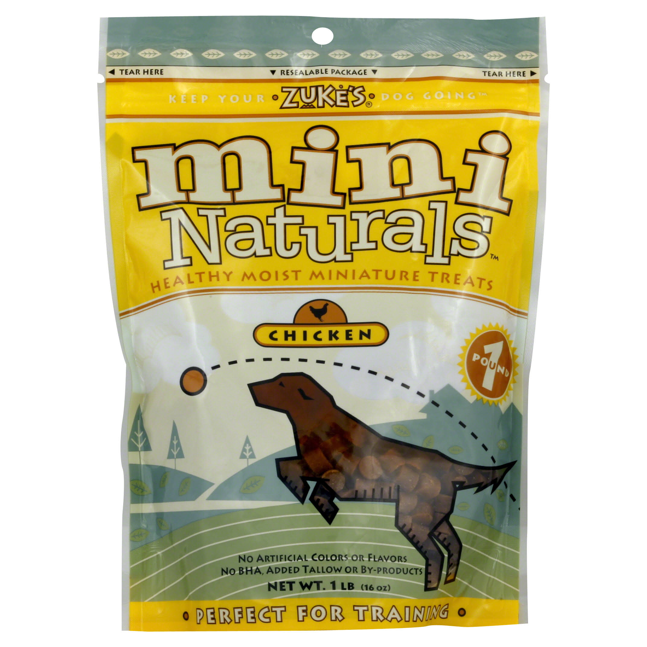 Zuke's Mini Naturals Healthy Moist Miniature Dog Treats - 1lb