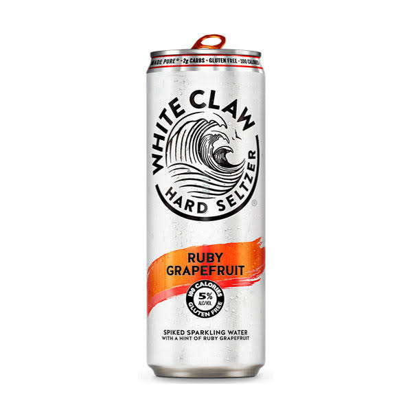 White Claw Sparkling Water - Ruby Grapefruit, 6 Cans