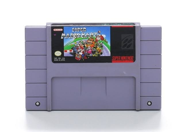 Super Nintendo Super Mario Kart Video Game