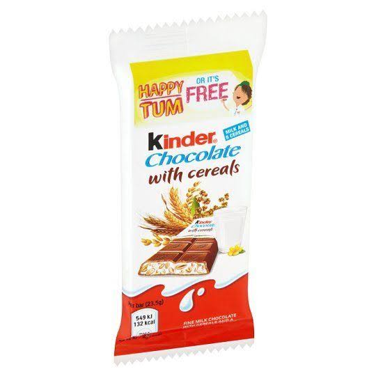 Kinder Cereals Single Chocolate Bar - 23.5g