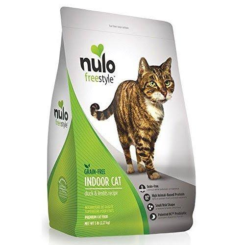 Nulo FreeStyle Grain Free Duck and Lentils Indoor Adult Dry Cat Food - 5lb