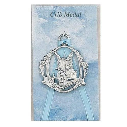 McVan Guardian Angel Crib Medal Blue