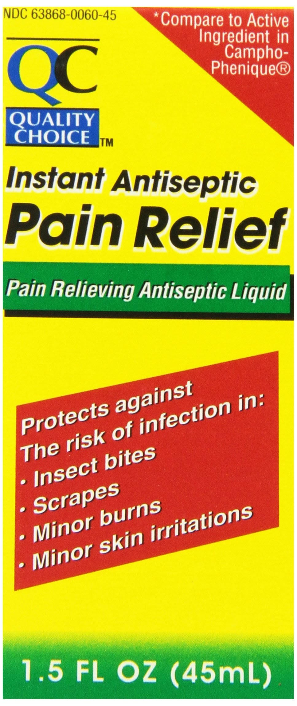 Quality Choice Instant Antiseptic Pain Relief Liquid - 45ml