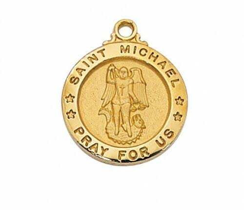 Gold Over Sterling St. Michael Medal Pendant