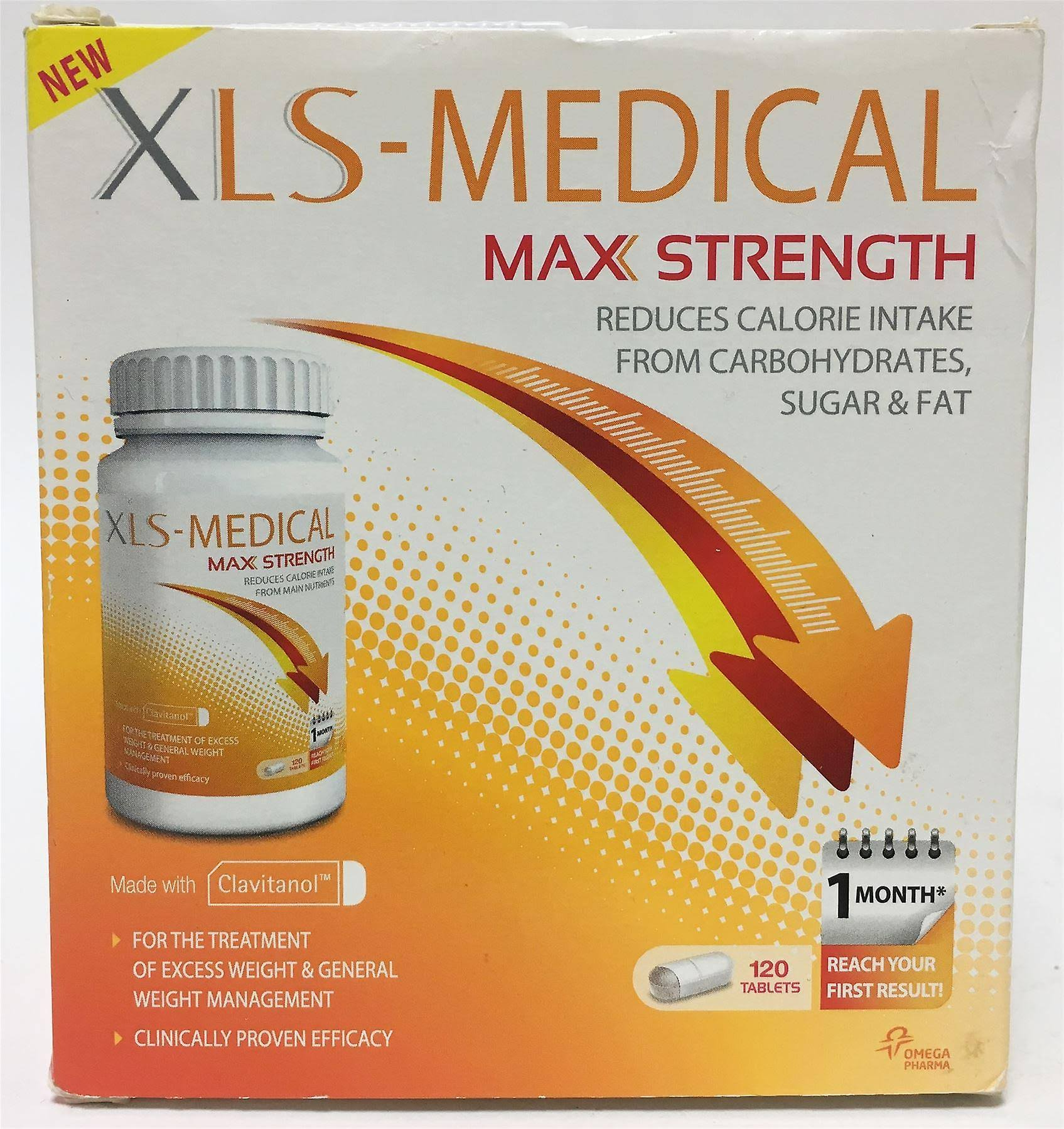 XLS-Medical Max Strength Diet Pills for Weight Loss - 120 Tablets