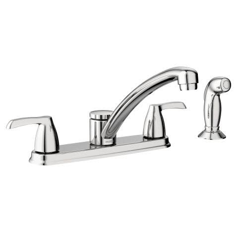 Adler Kitchen Faucet Double Handle - Chrome
