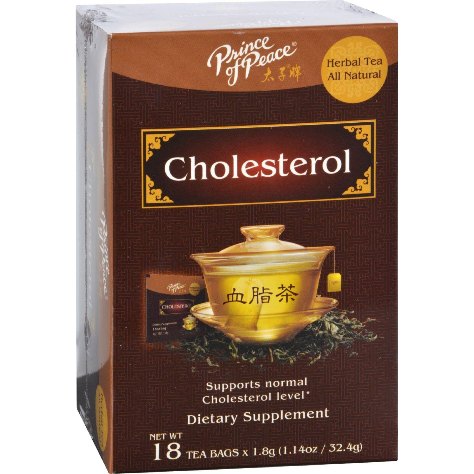 Prince of Peace Cholesterol Herbal Tea - 18 Tea Bags, 32.4g