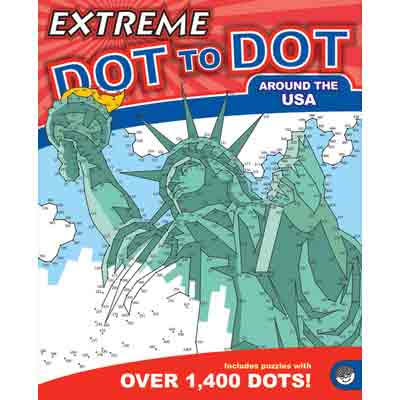 Mindware Extreme Dot To Dot Around The USA Puzzle