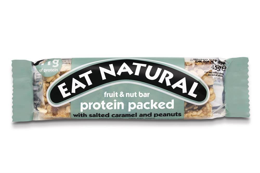 Eat Natural Fruit & Nut Bar Protein Packed - with Salted Caramel and Peanuts, 45g