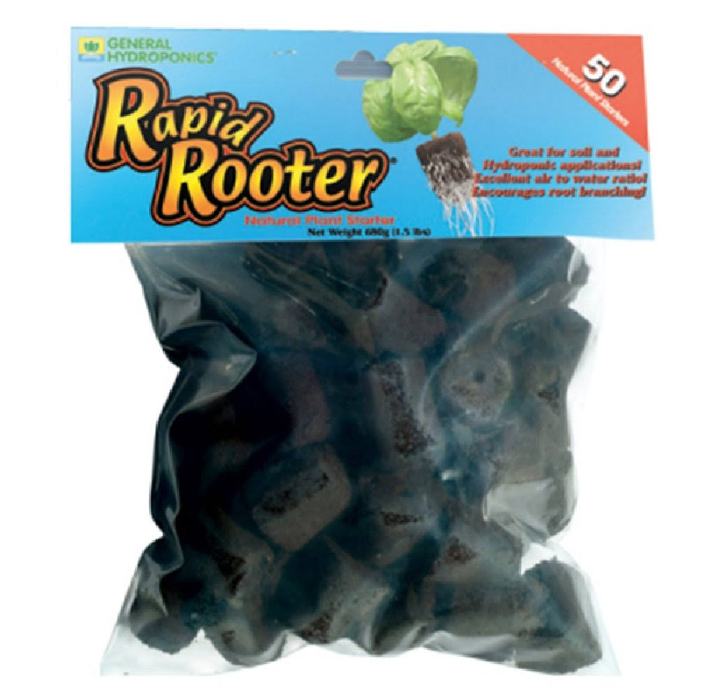 General Hydroponics Rapid Rooter Plant Starter - 50ct