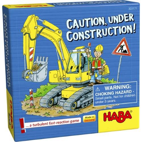 Haba Caution Under Construction! A Turbulent­ Fast Paced Pocket Sized Reaction Game Kit