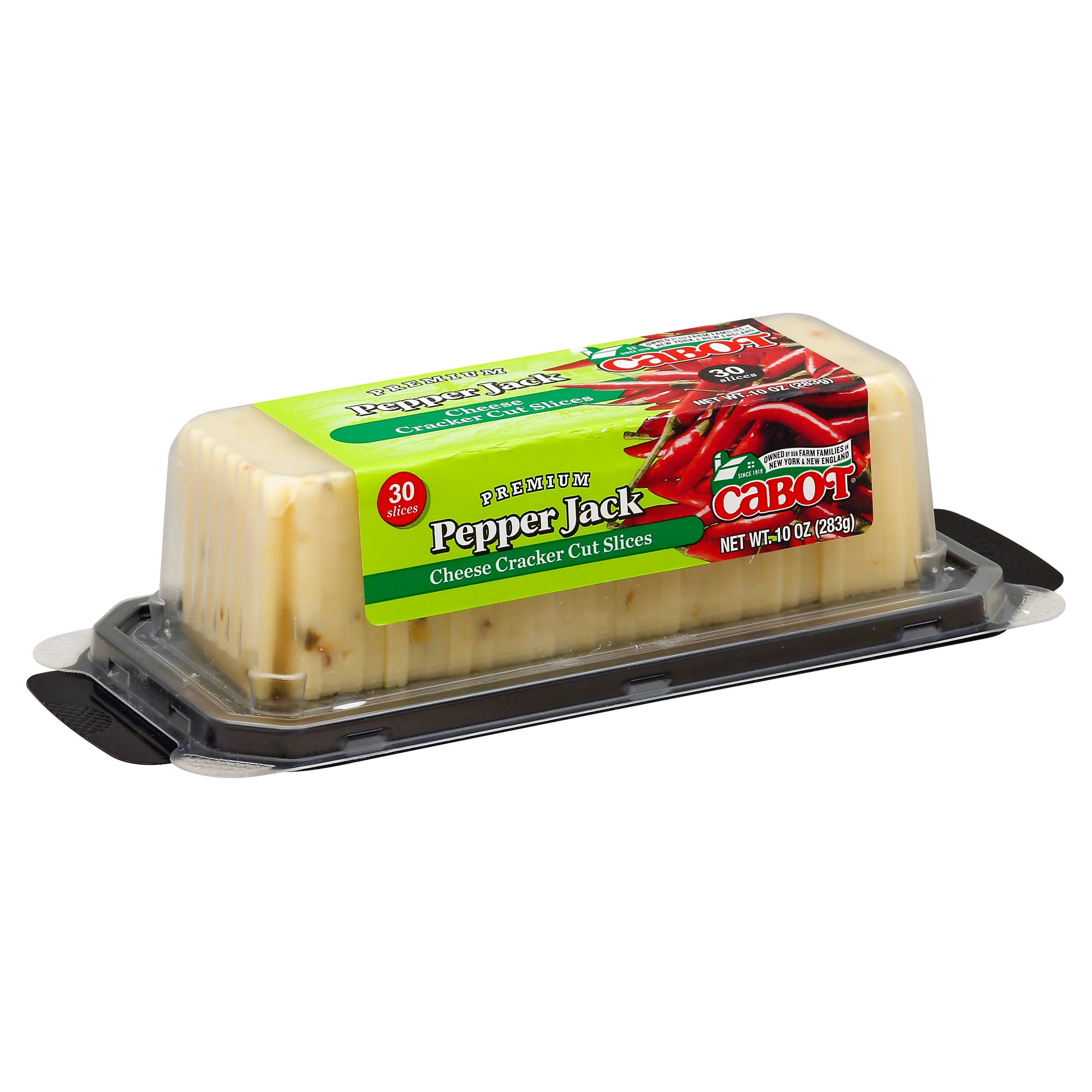 Cabot Cheese, Cracker Cut Slices, Pepper Jack - 30 slices, 10 oz