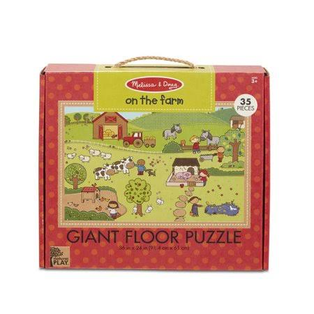 Melissa Doug Natural Play Giant Floor Puzzle: on The Farm 35 Pieces