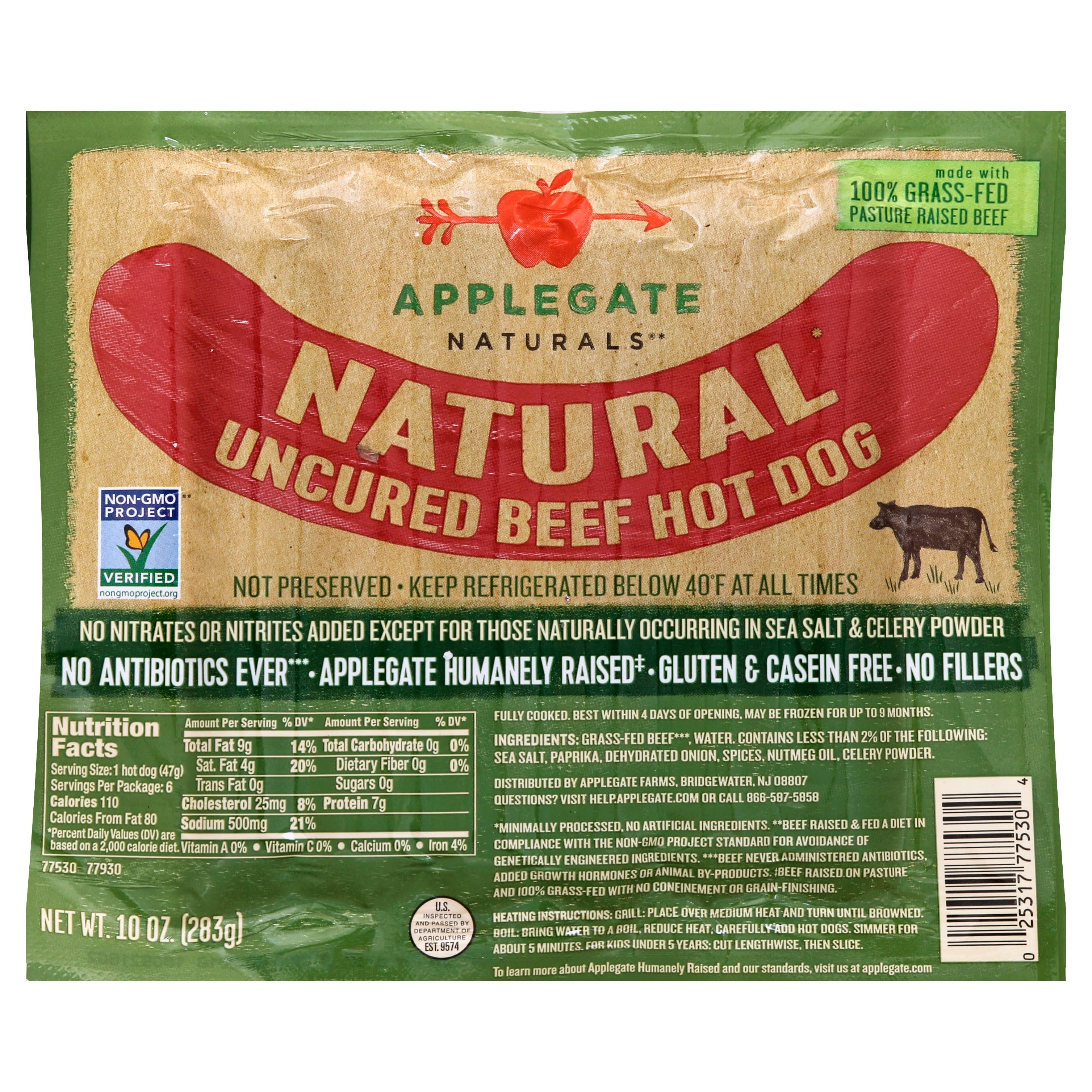 Applegate Naturals Natural Uncured Beef Hot Dog