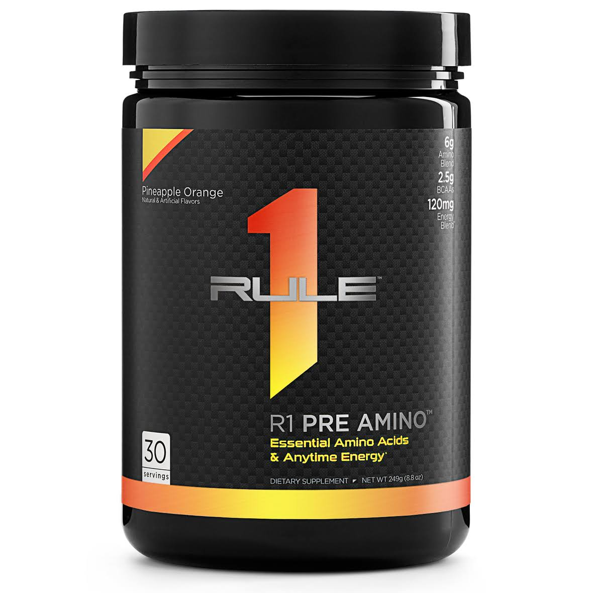 Rule1 R1 Pre Amino (30 Servings) Pineapple Orange