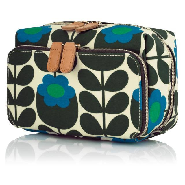 Orla Kiely Primrose Jade Medium Cosmetic Bag