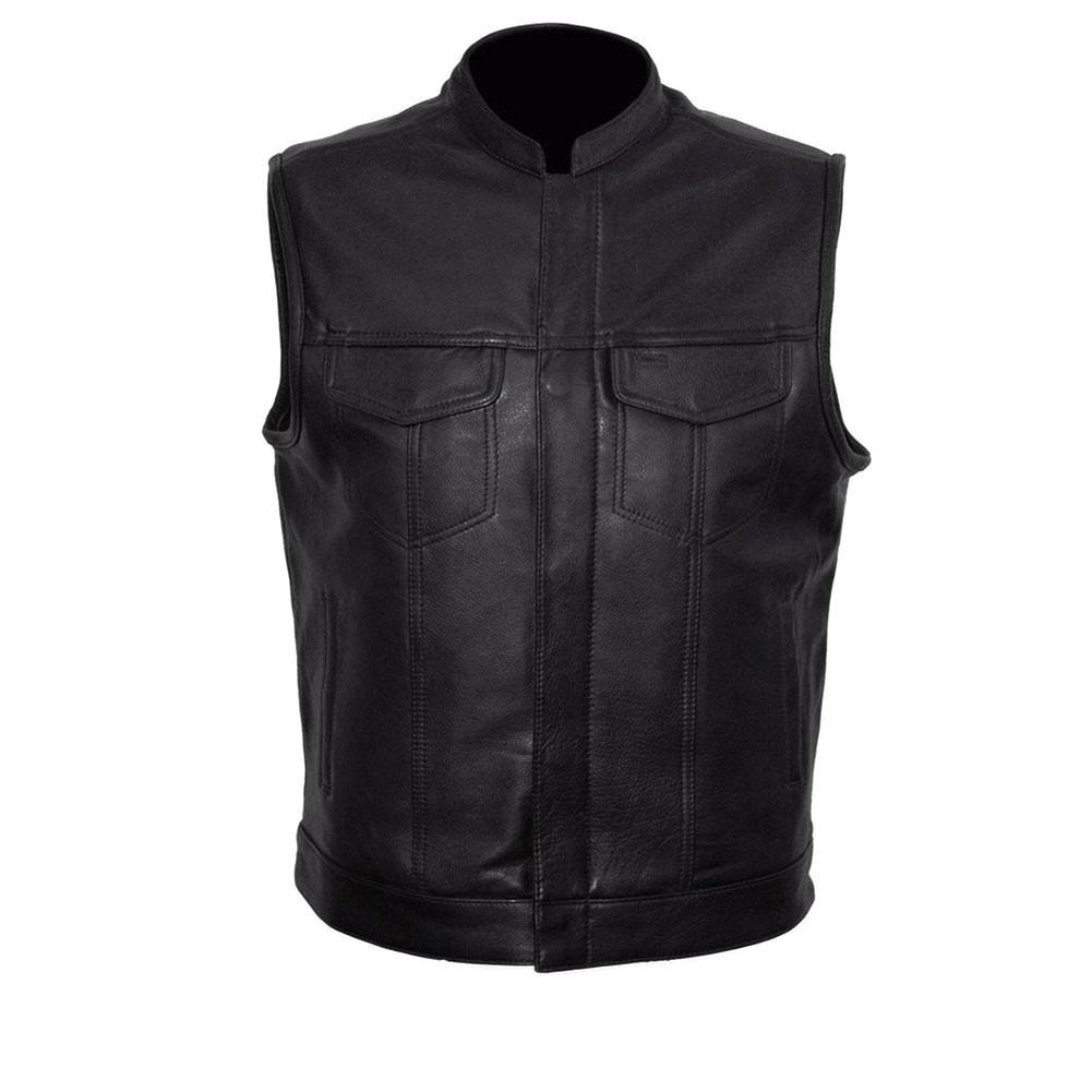 First Manufacturing Men's Sharp Shooter Motorcycle Vest - Black, Large