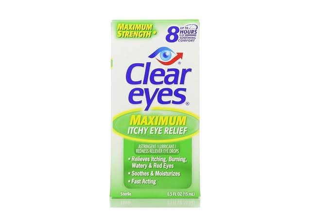 Clear Eyes Maximum Astringent/Lubricant Redness Reliever Eye Drops - 0.5 fl oz