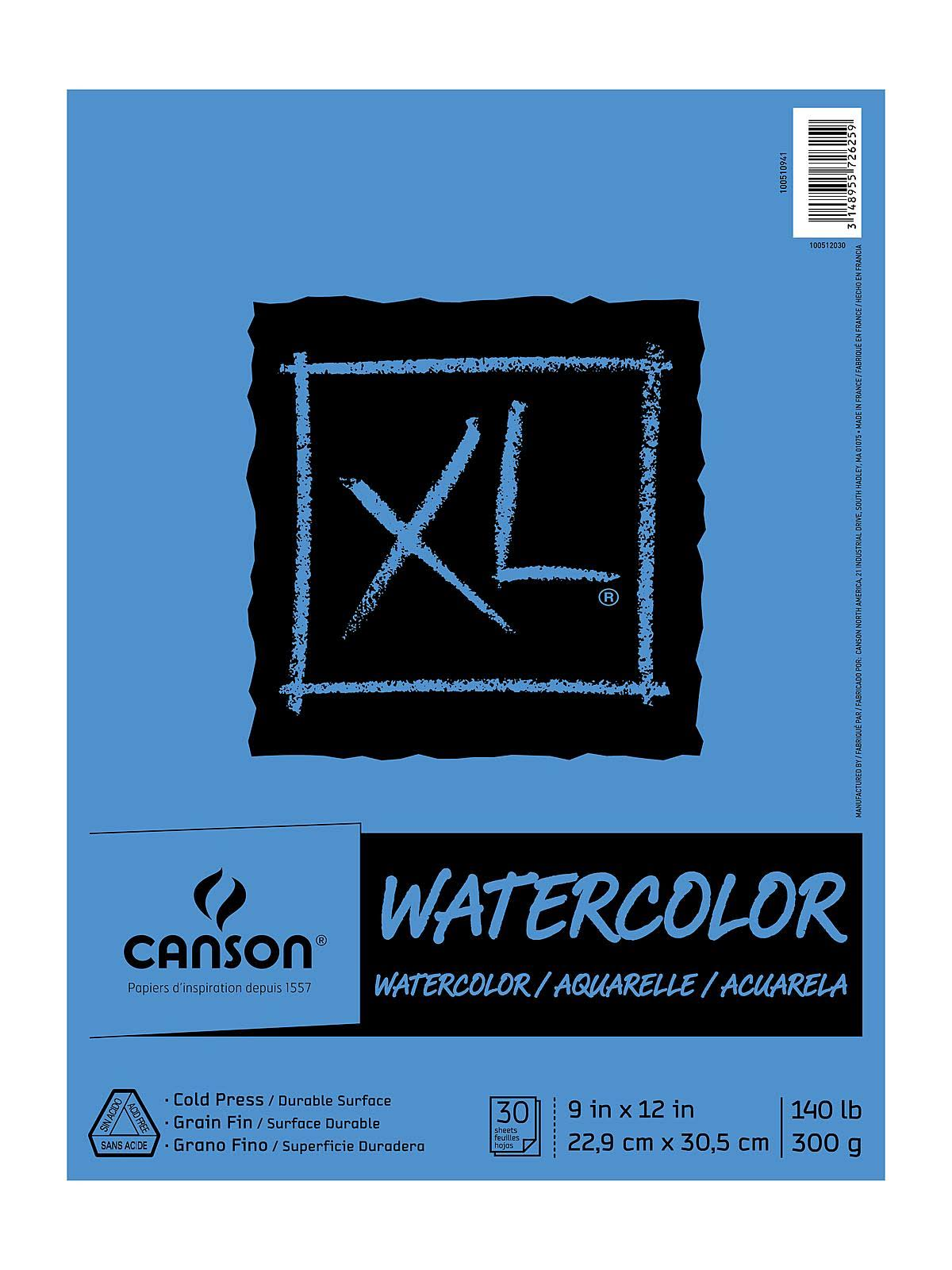 "Canson Watercolor Paper Pad - 30 Sheet, 9"" x 12"""